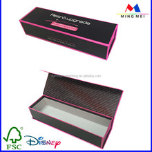 Free samples cardboard folding flip top paper box, fold up boxes, book shaped gift box