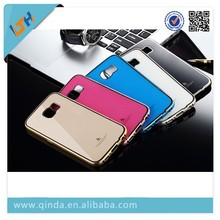New Arrival! Hot Selling 2015 Newest Aluminum Metal Bumper+ Acrylic Back Cover Case With Double Color For Samsung Galaxy S6