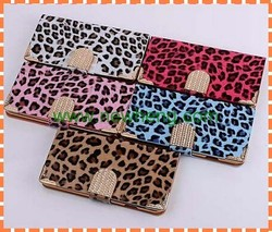 2015 Hot Sell Diamond Leopard Leather mobile phone Case For iPhone 6