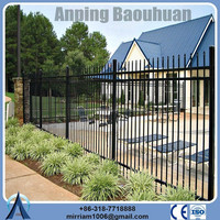 light weight wrought iron fence for garden