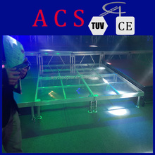 aluminum frame mobile organic glass stage for night show