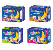 Hot sell for Guinea market colored PE film disposable diapers for baby