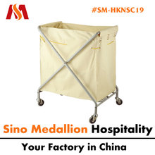 5 Star Hotel Metal Laundry Service Cart