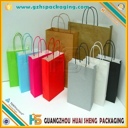 laminated paper promotional colorful kraft paper shopping bag