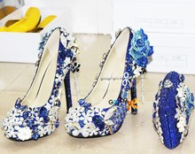 new fashion sexy royal blue shoes