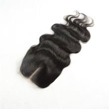 4x4 Sunnymay Stock Natural Color Body Wave 100% Peruvian Virgin Hair Bleached Knots Middle Parting Lace Closure