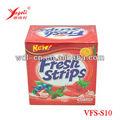 con sabor a fruta dulce sabor fresco de la disolución de la boca tiras para el aliento