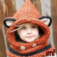 Wonderful DIY Cute Knitted / Crochet Baby Animal Booties /Fox Cowl Hat