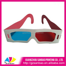 hot sale factory price paper red blue colorful 3d glass for pictures, chinese 3D paper glass with fashion design for xnxx movie