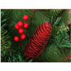 Waterproof polystyrene foam artificial red berries for Christmas tree decorations materials
