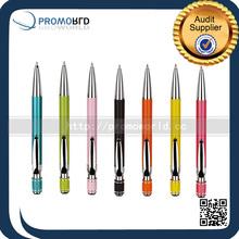 School Supplies Promotional Pens Click Metal Roller Tip Pen