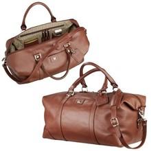 large capacity brown italian leather travel bag weekender leather duffel bag