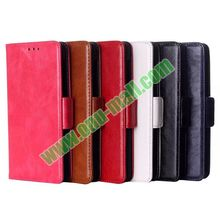 Crazy Horse Texture Flip Leather Case Mobile Phone Cover for Nokia X2 with Card Slots