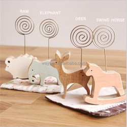 New Cute Animal Wooden Place card holder Photo Holder