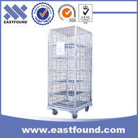 Galvanized steel logistics roll containers