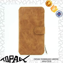 Hot sale PU leather and pc cover case for mobile phone, with wallet bag for galaxy note 5