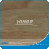 Wood grain vinyl flooring basketball court use 4.5mm with stock