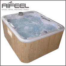 2015 European style indoor 3 person acrylic massage freestanding spa whirlpool bathtub balboa spa bath prices