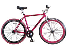 700C fixed gear cycling bicycle aluminium alloy frame high quality single speed fixie bike
