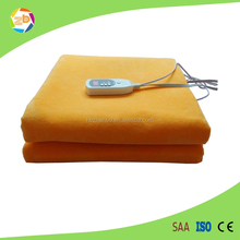 220v Safety portable electric heating blanket/bed warmer