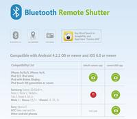 100шт Универсальные беспроводные камеры bluetooth удаленного спуска для ios android iphone htc sony samsung