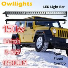 30 Inch 150W Single Row LED Light Bar Camouflage LED Light Bar IP68 Off Road LED Light Ba for SUV,UTV, ATV, truck, Car etc