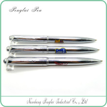 2015 Metal Ball Pen with Logo For Promotion polished silver ball pen
