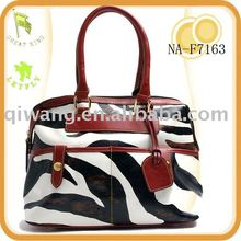 Zebra printing Leather Ladies handbags 2013
