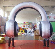 2015 new style giant inflatable headset earphone for advertising