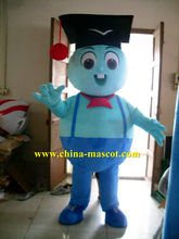 Plush pen doctor mascot costume