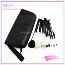 personalized brush factory cosmetic brush 10pcs make up brush zippered cosmetic bag