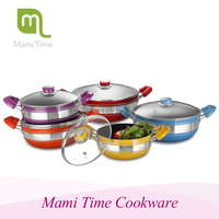 hot sale high quality aluminum pot used cookware set