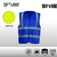 EN ISO 20471New Product traffic vest 100% polyester Safety Clothing Reflective Tape blue pink Safety Vest