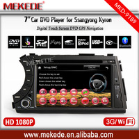 support 3G WIFI car radio audio player for ssangyong kyron/Actyon with DVD GPS ipod BT radio stereo