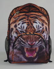 2015 Best selling 3D Animal Felt Backpack with zipper fashion sports bags animal prints laptop bag