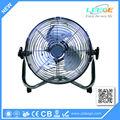 100% motor eléctrico de cobre 12 pulgadas de ca ventilador de metal