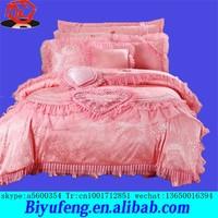 Four pieces set nine pieces set ten pieces set Korean satin jacquard cotton embroidered wedding bedding