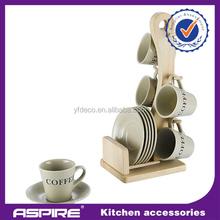 Elegant european style ceramic coffee cup