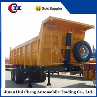 CIMC Hyva system 2 axle dump trailer semi trailer tipper for sale
