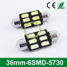 Big factory 12v auto lamp smd 5730 led 36mm-6smd 5730 chip car lights led