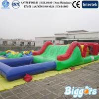 Small Inflatable Obstacle Course With Water Pool Inflatable Combo Game