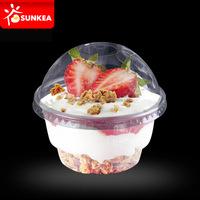 Cusom printed disposable plastic yogurt cup