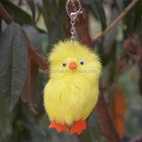 Small duck rabbit fur mobile phone pendant keychain bags pendant chrismas girft