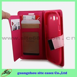 New Product Multi Color Cheap PU Leather Flip Mobile Phone Case Cover For Samsung i9080