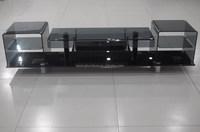modern living room furnitureand bent glass italian design TV stand