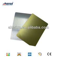 3mm two side Pvdf/pe Coated golden and silver mirror aluminum composite panel(ACP)