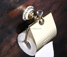 blue and white porcelain paper holder with diamond toilet tissue box 4049