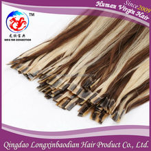 2015 The Most Popular No Tangle or Shedding Unprocessed Virgin Human Hair Cuticle Remy 100% Remy Prebonded Hair Extensions