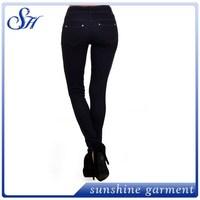 OEM full length Hot sales stylish zipper decorated knit keep tight leggings women pents zipper decorated legging