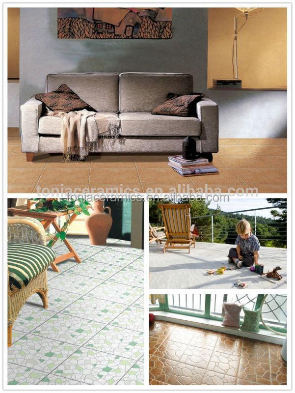 Ceramic Tile Foshan Green Color Circle Pattern Glazed Rusitc ...